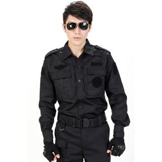 Quần áo bảo vệ, vệ sỹ túi hộp màu đen tay dài may the yêu cầu