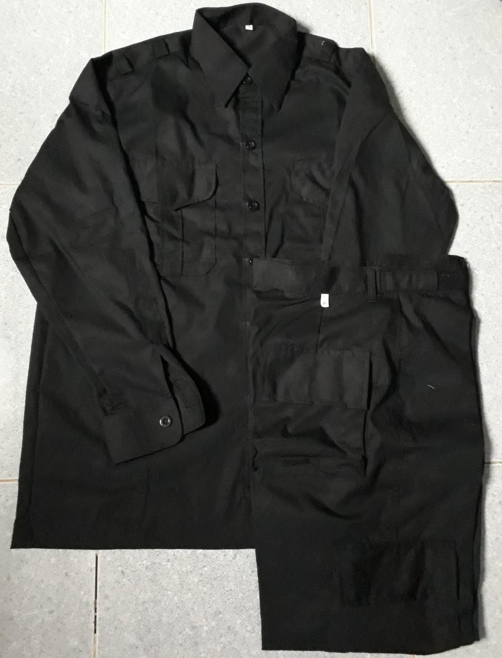 Bộ bảo vệ, vệ sỹ màu đen túi hộp tay dài