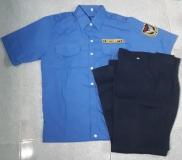 Bộ quần áo bản vệ xanh biển đậm luôn có sẵn
