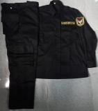 Quần áo bảo vệ, vệ sỹ túi hộp màu đen tay dài
