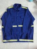 Áo công nhân xanh bích may sẵn 01