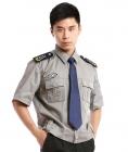 Áo bảo vệ may sẵn tay ngắn có bo màu xám hinh1