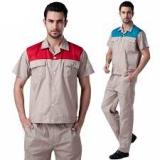 quần áo công nhân tay ngắn may theo yêu cầu 01