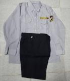 Bộ bảo vệ áo kate siêu màu xám tay dài, quần cashmere xanh đen